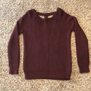 Sparkle and Fade burgundy oversized sweater